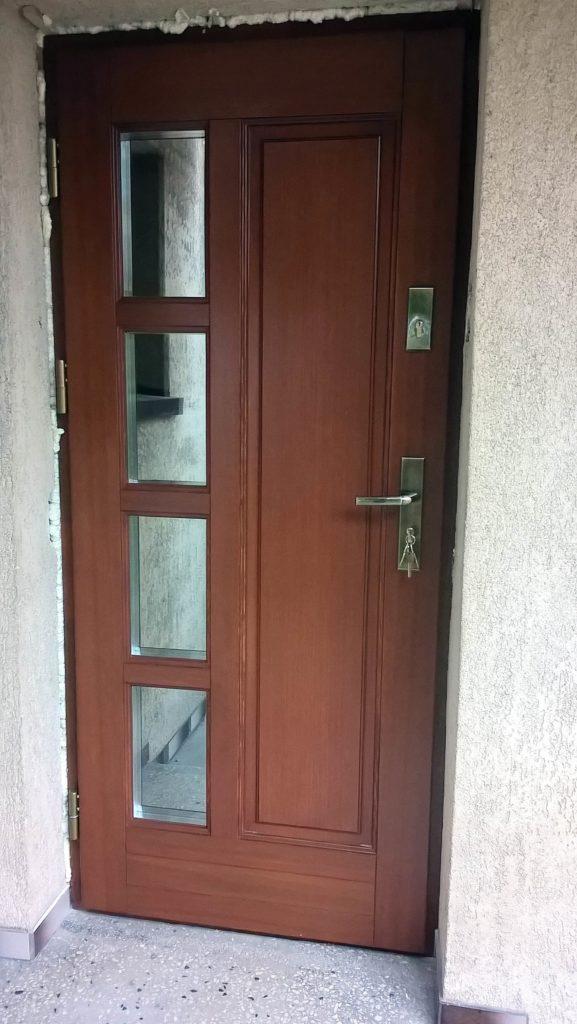 Drzwi drewniane wejściowe 3 - FHU Tokarczyk