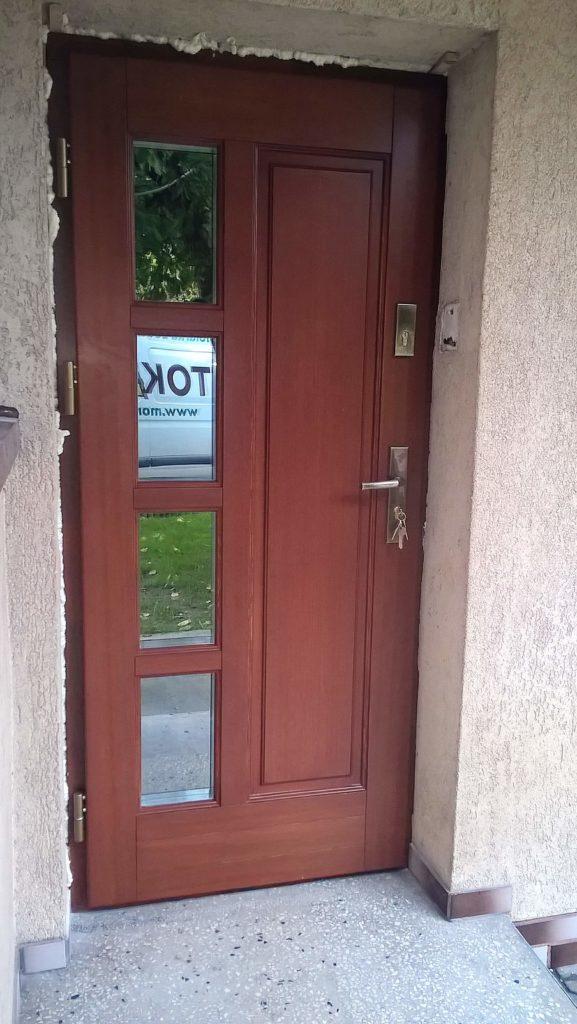 Drzwi drewniane wejściowe 2 - FHU Tokarczyk