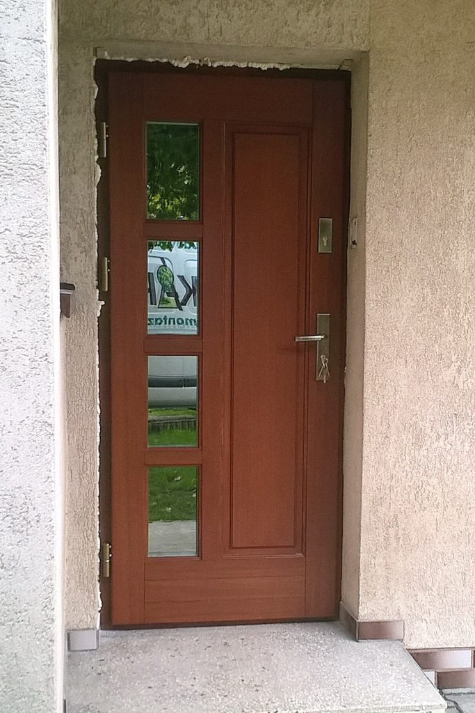 Drzwi drewniane wejściowe 1 - FHU Tokarczyk