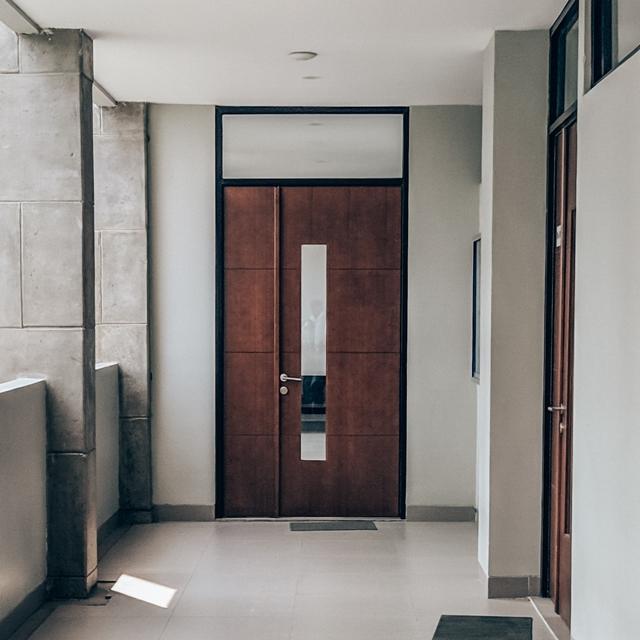 Drewniane drzwi płytowe wejściowe - FHU Tokarczyk