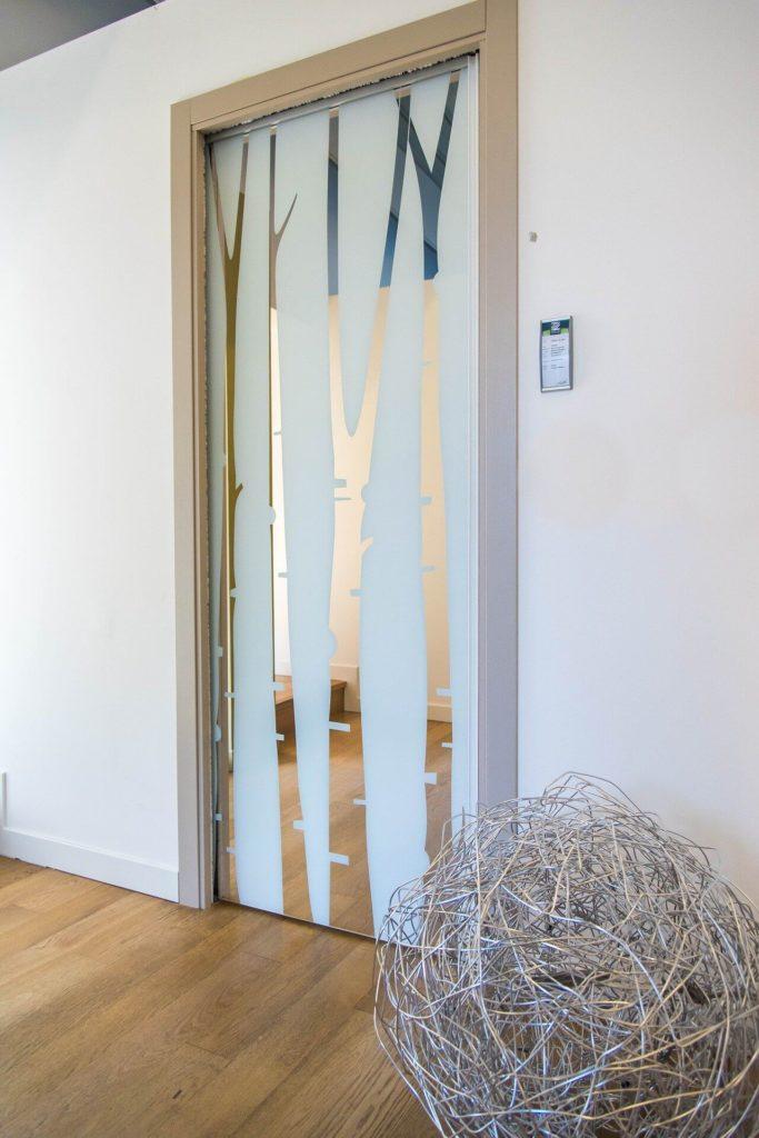 Drzwi wewnętrzne szklane przesuwne - drzwi na zamówienie - FHU Tokarczyk