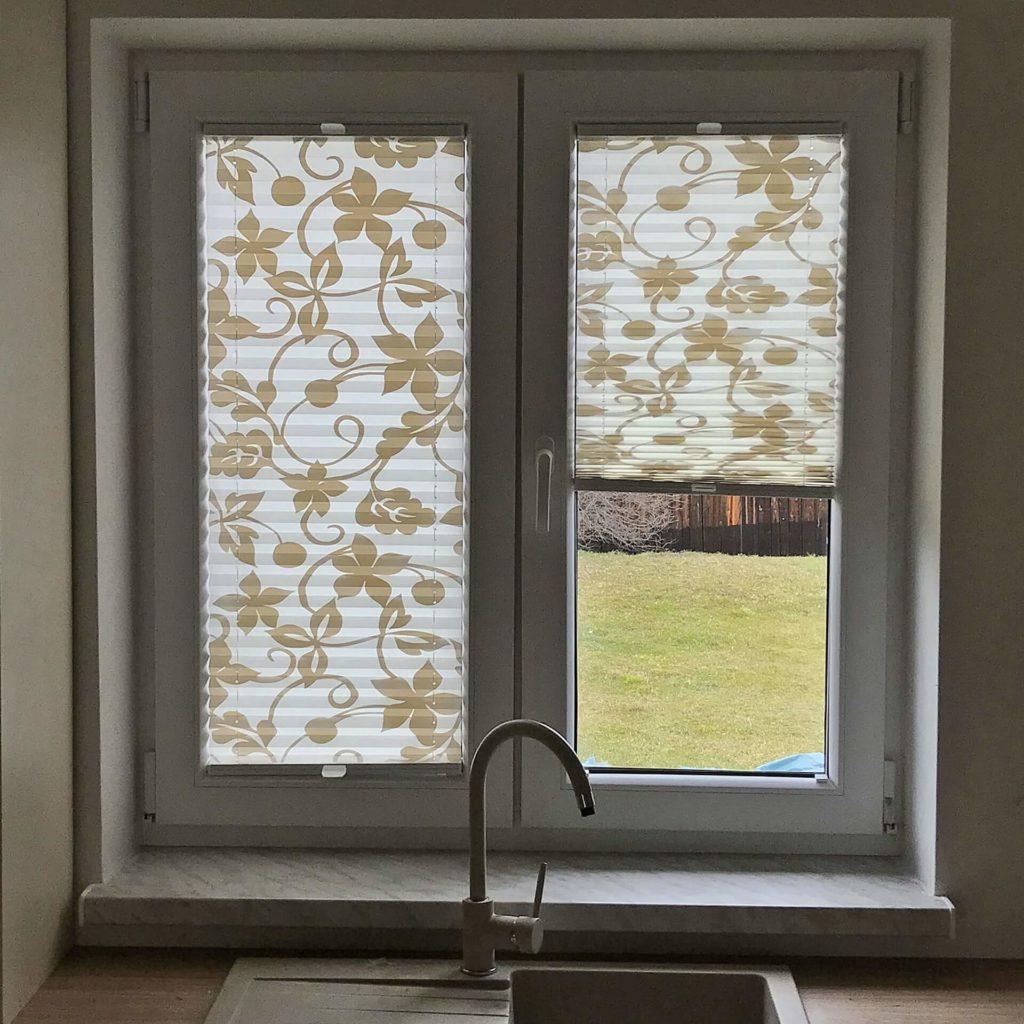 Plisy okienne w kwiaty - FHU Tokarczyk