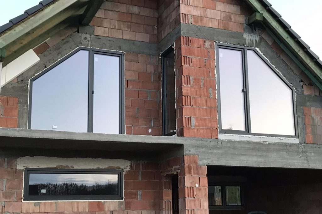 Okna trapezy antracyt - FHU Tokarczyk