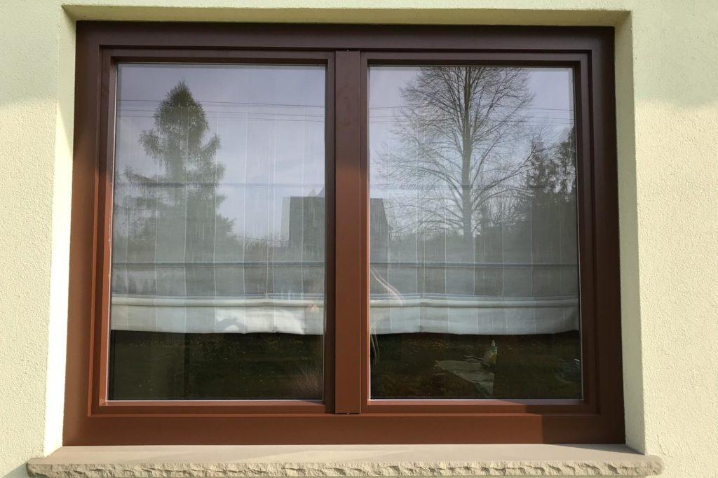 Drewniane okno z nakładką aluminiową - FHU Tokarczyk