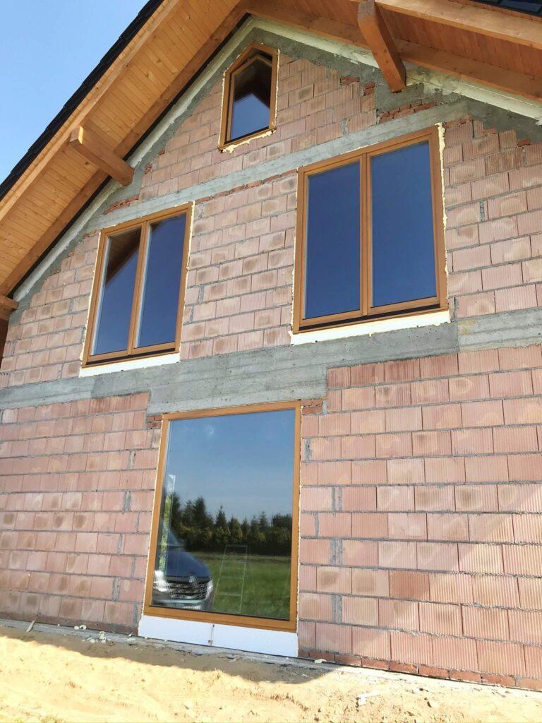 Okna trapezowe pasywne drewniane - FHU Tokarczyk Kraków