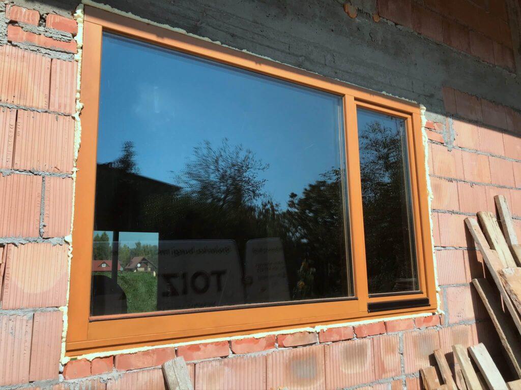 Okno drewniane dwuskrzydłowe pasywne - FHU Tokarczyk Kraków